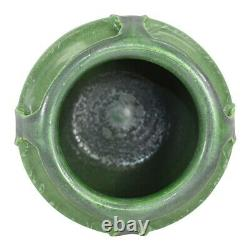 Door Pottery Matte Green Four Handled Reticulated Arts and Crafts Vase