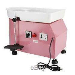 Electric Pottery Wheel Ceramic Machine 25CM 350W 110V Work Clay Art Craft Pink