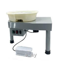 Electric Pottery Wheel Ceramic Machine 350W 30CM Clay Art Craft DIY Device Gray