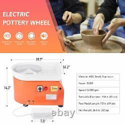 Electric Pottery Wheel Ceramic Machine Work Clay Art Craft DIY