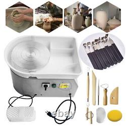 Electric Pottery Wheel Machine 25CM For Ceramic Work Clay Art Craft Molding 350W