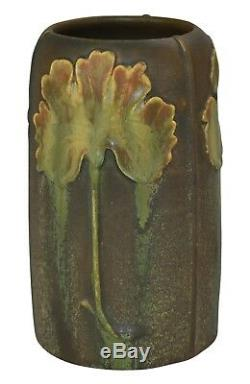 Ephraim Faience Pottery 2007 Experimental Arts and Crafts Leaf Vase