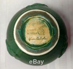 Ephraim Pottery, Ginkgo Leaves Vase, Great Arts & Crafts Theme, Cucumber Green