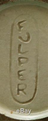 FULPER 7.75 ARTS & CRAFTS VASE IN MATTE GREEN CRYSTALLINE GLAZE c1917-1927 MINT
