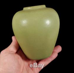 Fine Authentic Teco Antique Matte Green Arts & Crafts Era American Pottery Vase