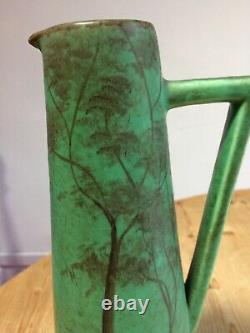 Fine Tall Green Mid-Century/Art Deco/Arts & Crafts Vintage Jug, Marked'Royal