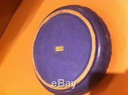Fulper Art Pottery Arts And Crafts Bowl-blue Matte Glaze