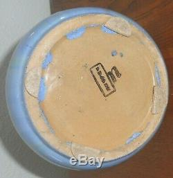 Fulper Art Pottery Buttress Vase Arts & Crafts Blue & Brown Hues Antique