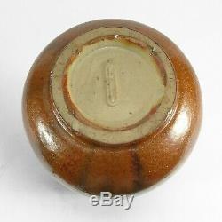 Fulper Pottery 12.5 black copperdust crystalline flambe vase arts & crafts