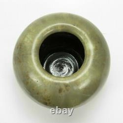 Fulper Pottery 7.25 dia sphere vase green brown crystalline # 61 arts & crafts