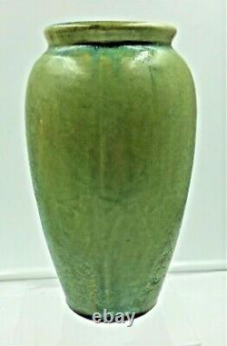 Fulper Pottery Arts & Crafts Crystalline Blue On Green Vase Exc Condition