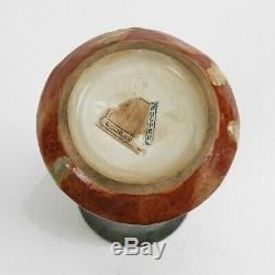 Fulper Pottery corset vase #483 black over cream mahogany drip arts & crafts
