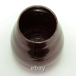 George Ohr pottery gun-metal totemic cone shaped vase Biloxi arts & crafts