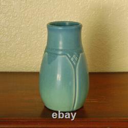 Gorgeous Antique Rookwood Arts & Crafts Cabinet Vase XX 1920 #1825 Matte Blue