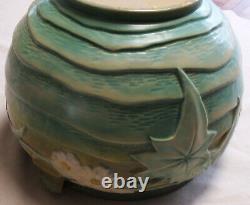 Gorgeous Antique Roseville Luffa Jardiniere Green Large Vase 1934 Arts & Crafts