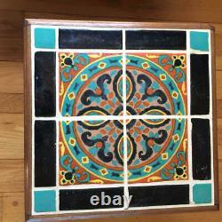 Great California Catalina Arts & Crafts Tile-Top SideTable Malibu Taylor Tilery