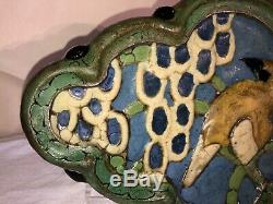 Greuby Faience Art Pottery Bird Tile-c1910-Arts and Crafts/Art Deco