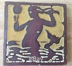 Grueby Faience Mermaid Art Pottery Tile Arts & Crafts Era
