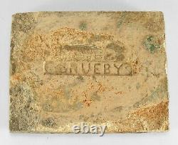 Grueby Pottery 4 color ring tile matte green yellow brown blue Arts & Crafts