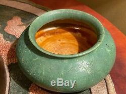 Grueby Pottery Arts & Crafts Bowl Stickley era Matt green