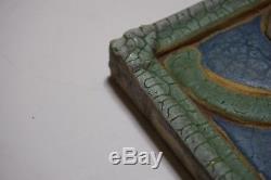 Grueby Pottery Faience Tile Frieze Plaque Arts & Crafts Ceramic Pottery