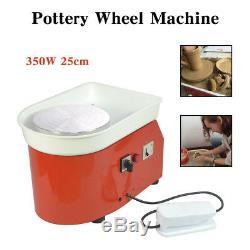 HQ 350W 110V Electric Pottery Wheel Ceramic Machine 25CM Work Clay Art Craft