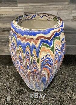 HUGE 14 Vintage Arts & Crafts OZARK ROADSIDE POTTERY Tourist Swirl Multi-Color