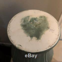 Haeger Pottery Matte Green Vase In Grueby Arts & Crafts Style Large 12 Tall