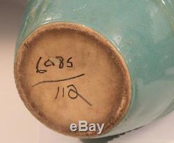 Huge Zanesville Art Deco Urn Pottery Arts & Crafts Oil Jar Floor Garden Vase 24