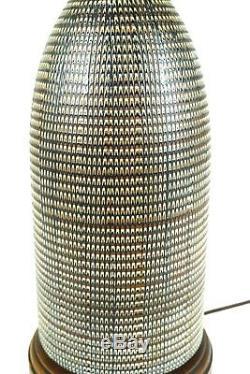 Hyalyn Basketry Ceramic Pottery Lamp Mid-century Modern/arts & Crafts Vtg