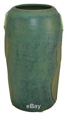 Jemerick Pottery 1998 Arts And Crafts Yellow Tulip Ceramic Vase