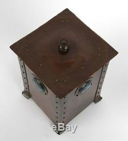 Jesson and Birkett Arts and Crafts Copper and Ruskin Pottery Canister Box
