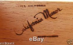 Karpen Monterey Paneled Oak Chest Of Drawers Arts & Crafts Era Glazed Ceramic