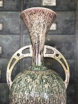 Large 20 Arts & Crafts Bretby Art Pottery Vase Stunning Lustre Glaze