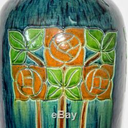 Large Arts and Crafts Glasgow Style Rennie Mackintosh Secessionist Pottery Vase