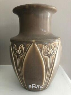 Large Rookwood Pottery 1927 Floral Arts and Crafts Ceramic Vase 2413