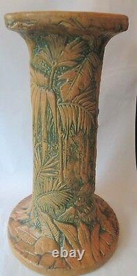 Lg PEDESTAL! Vintage WELLER ART pottery Arts Crafts MARVO pattern LOVELY