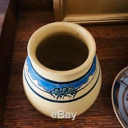 Lovely Kevin Hicks Ephraim Faience Pottery Arts & Crafts Vase