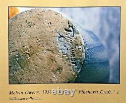M. L. Owens/Pinehurst Craft, North Carolina salt glazed jug with cobalt runs