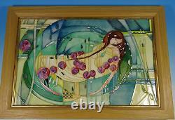 MOORCROFT Sleeping Beauty Arts & Crafts Mackintosh Framed Wall Plaque RRP £765
