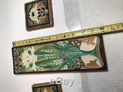 MOTAWI TILEWORKS Tile Arts & Crafts Deco (Prototype) Poppy Lily White 2006
