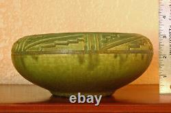 Magnificent Antique Rookwood Arts Crafts Incised Mat Cabinet Bowl X 1910 #957D