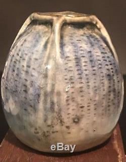 Martin Brothers Miniature Vase Dated 1907 Arts & Crafts Fulper Tiffany Teco Era