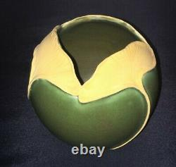 Mary Pratt Studio Ginkgo Leaf Ball Vase Ephraim Faience Arts & Crafts Mint