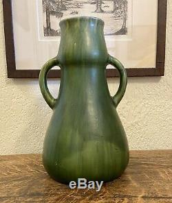 Matte Green Vase Arts & Crafts Austrian European Art Nouveau Pottery Cambridge