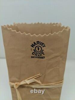 Michael Harvey Michel Craft Brown Paper Bag #1 Vase Bisque Ceramic Canada 5 5/8