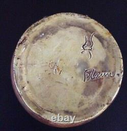 Middle Lane Brouwer Flame Pottery Arts & Crafts Period Vase