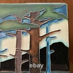 Motawi 8 x 8 Pine Landscape Mountain (Summer) Arts and Crafts Art Tile