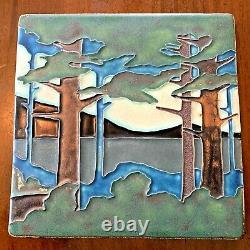 Motawi 8 x 8 Pine Landscape Valley (Summer) Arts and Crafts Art Tile