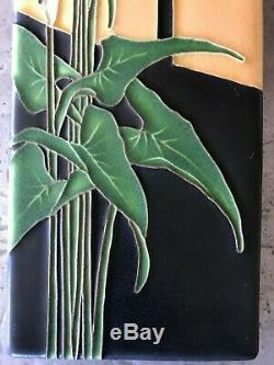 Motawi Tileworks Ann Arbor MI 4x12 Calla Lily Flower MINT Signed Arts Crafts